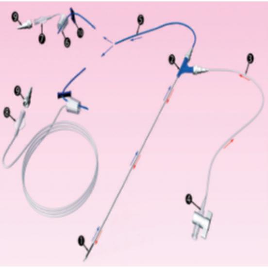 BIMONOCYTE-N Игла для захвата яйцеклетки и промывки фолликулов - 16G x 330 мм (длинное соединение)